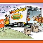 TurkeyMovers_Real Estate postcard illustration and design